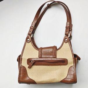 Bueno Woven + Leather Handbag